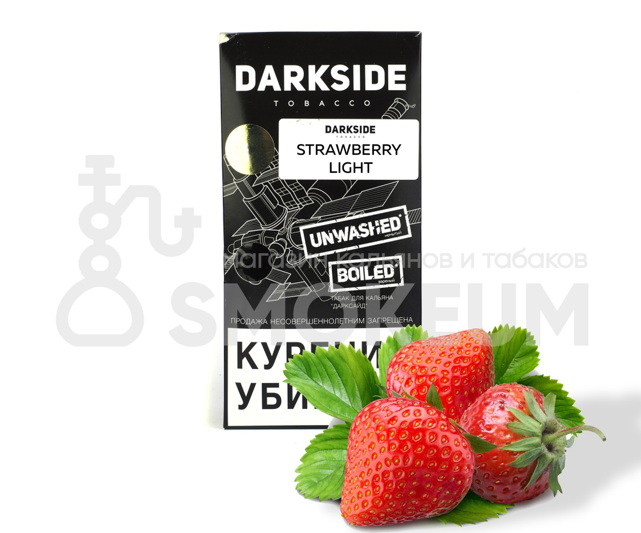 Табак Darkside (Soft) - Strawberry light (Клубника) 100 гр