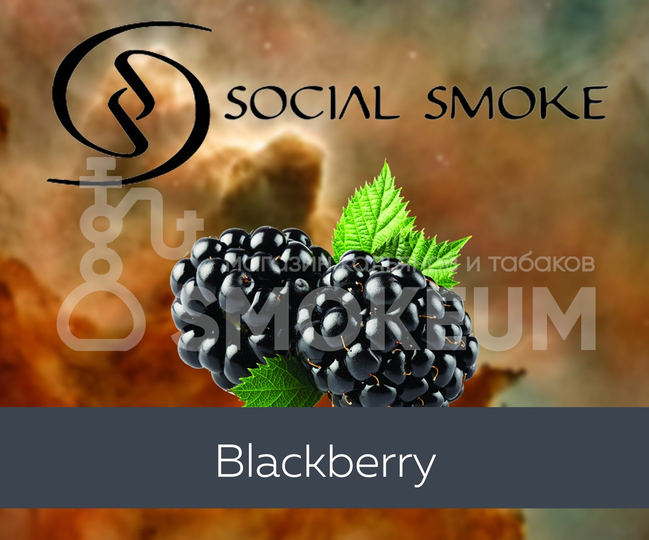 Табак Social Smoke - Blackberry (Ежевика) 250 гр